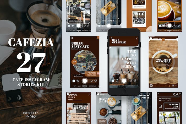 Cover Image For CAFEZIO - Instagram Story Kit