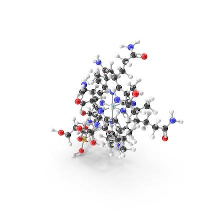 Cyanocobalamin (Vitamin B12) Molecular Model