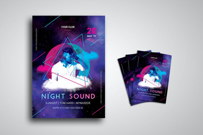 Thumbnail for DJ Night Party Event Flyer