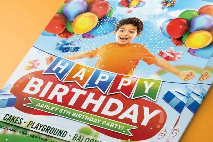 Cover Image For Kids Birthday Party Invitation