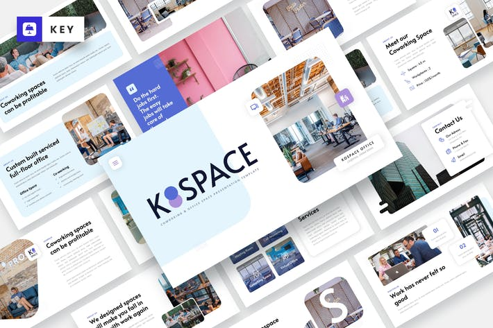 Thumbnail for KOSPACE - Coworking & Office Keynote Template