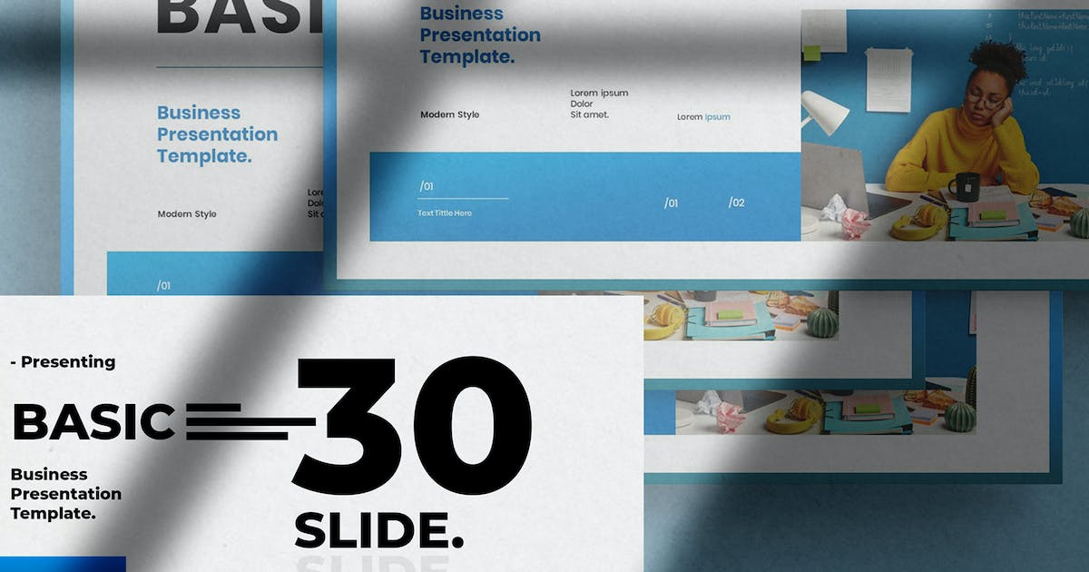 Download Basic - Business Presentation PowerPoint Template by raseuki