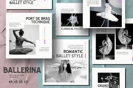 Modern Colorhide Theme - Ballerina Instagram Post