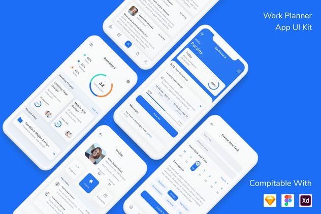 Work Planner App UI Kit