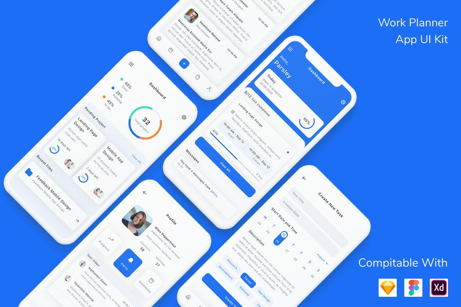 Work Planner App UI Kit