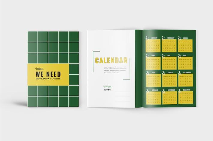 Thumbnail for WeNeed - Minimalist Workbook Template