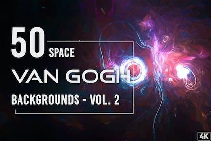50 Van Gogh Weltraum-Hintergründe - Band 2