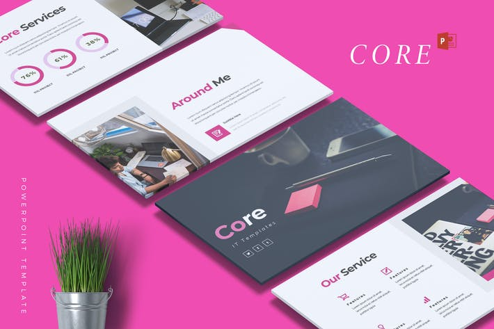 Cover Image For CORE - IT Company Powerpoint Template