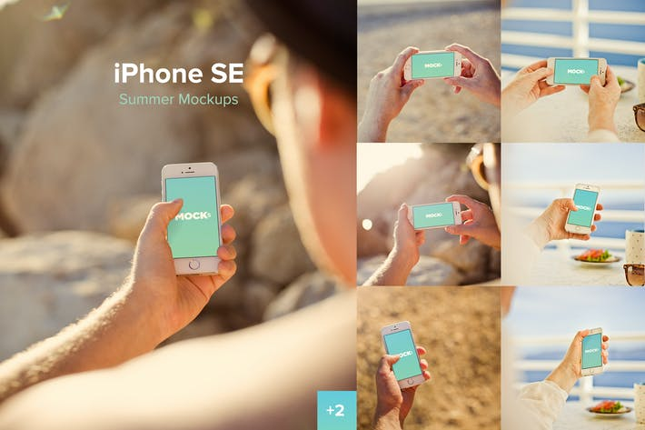 Thumbnail for iPhone SE Summer Mockups
