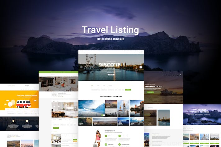 Thumbnail for Travel Listing - Listing Website PSD Template