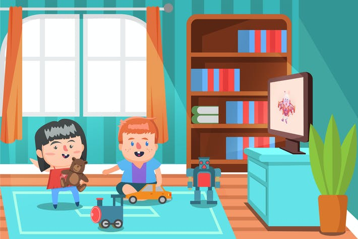 Thumbnail for Living Room Activity - Vector Illustration