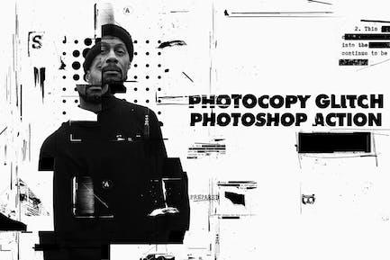 Photocopy Glitch Poster Photoshop Action
