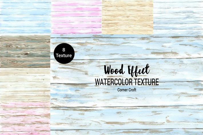 Cover Image For Wood Texture Watercolor Effect