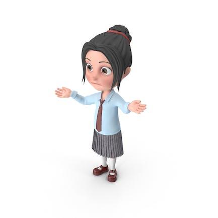 Cartoon Mädchen Emma verloren