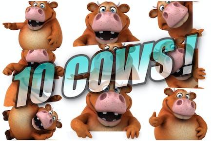 10 lustige Kühe!