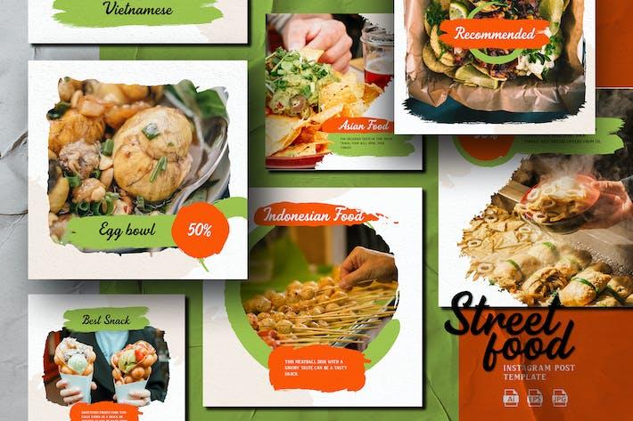 Cover Image For Brush Shape Theme - Street Food Instagram Post