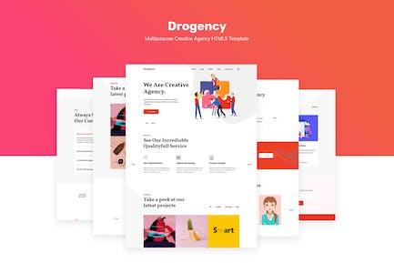 Drogency | Multipurpose Creative Agency Template