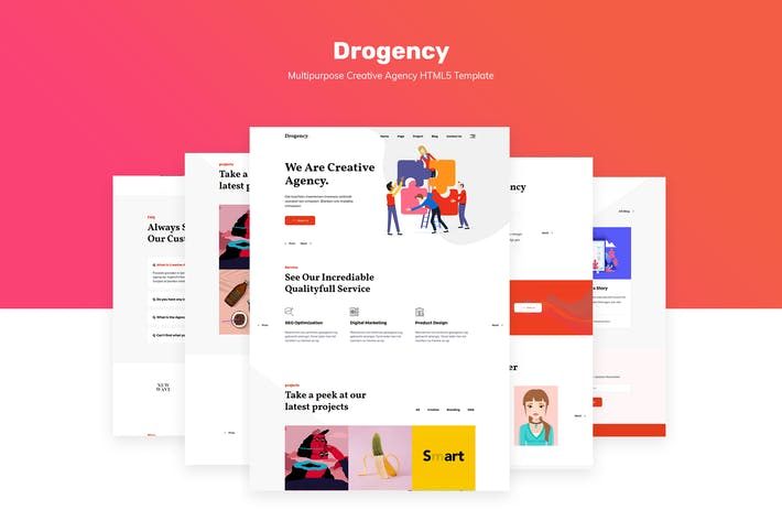 Thumbnail for Drogency | Multipurpose Creative Agency Template
