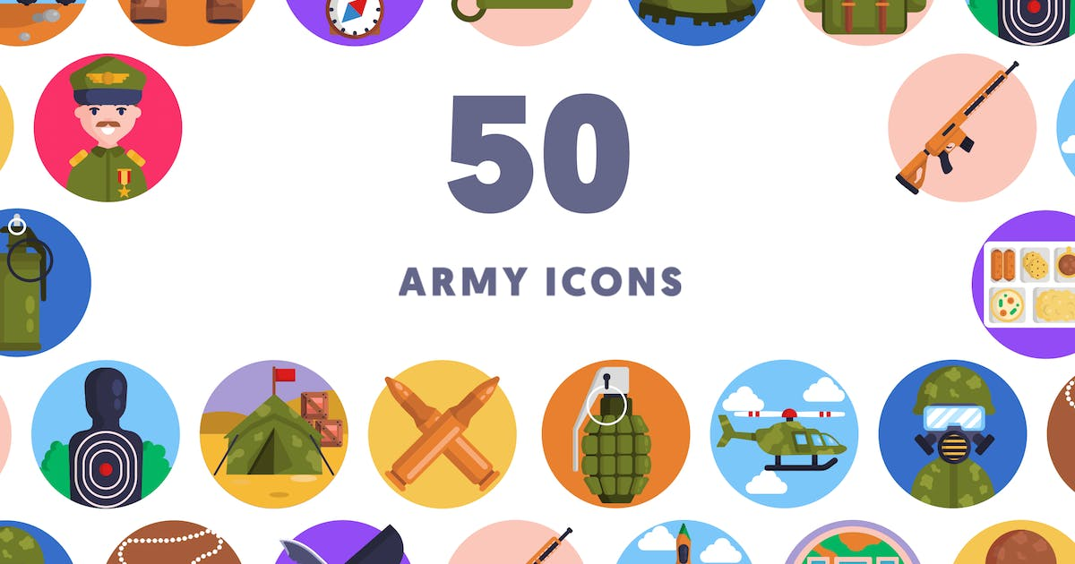 Download 50 Army Icons by thedighital