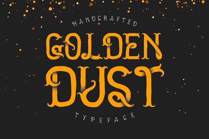 Thumbnail for La police de caractères de poussière dorée