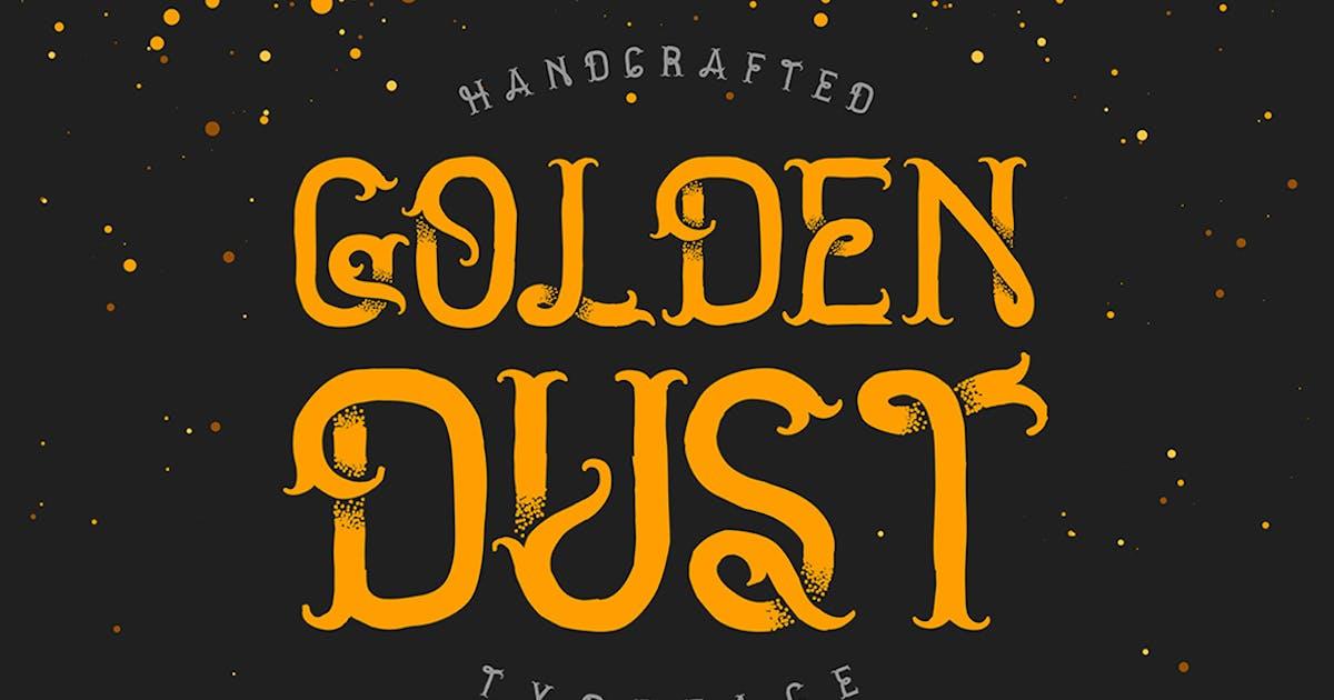 Download Golden dust typeface by Gleb_Guralnyk