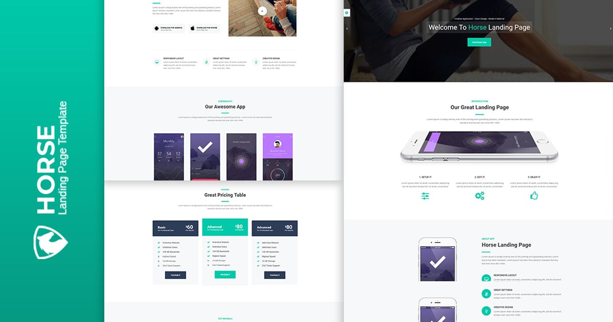 Download Horse App - HTML Responsive Template by htmlbeans