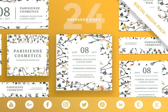 Thumbnail for Cosmetics Brand Social Media Pack Template