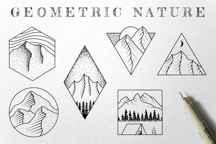 Thumbnail for Geometric Nature Illustrations