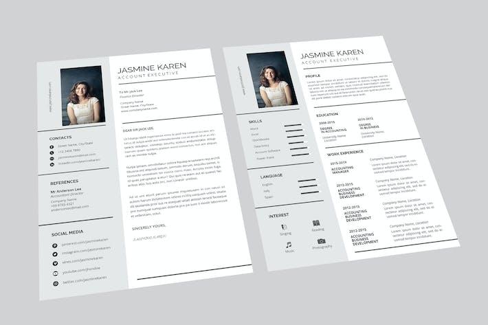 Thumbnail for Jasmine Account Resume Designer