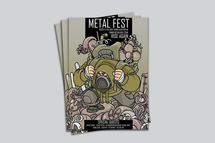 Thumbnail for Metal Fest Poster RG