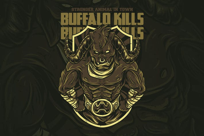 Thumbnail for Buffalo Kills T-Shirt Design
