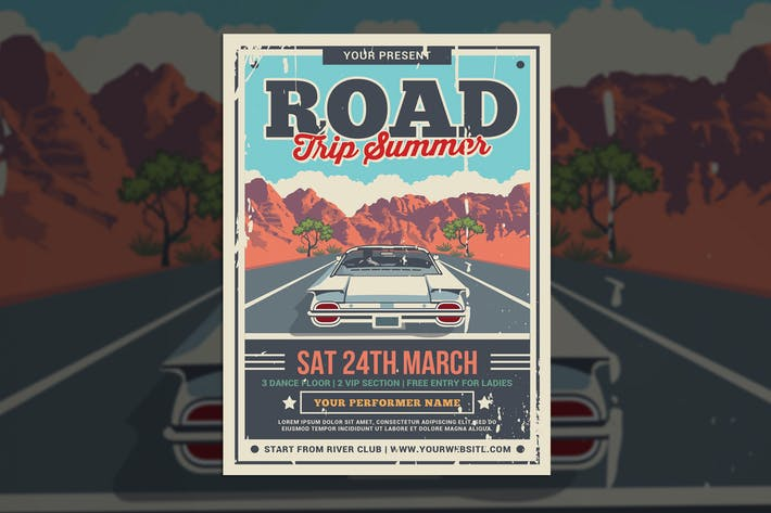 Thumbnail for Road Trip Summer Flyer