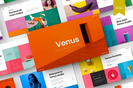 Venus - Plantilla de diapositivas de Google Business