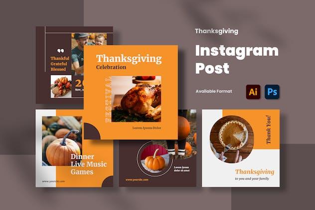 Thanksgiving Instagram Post