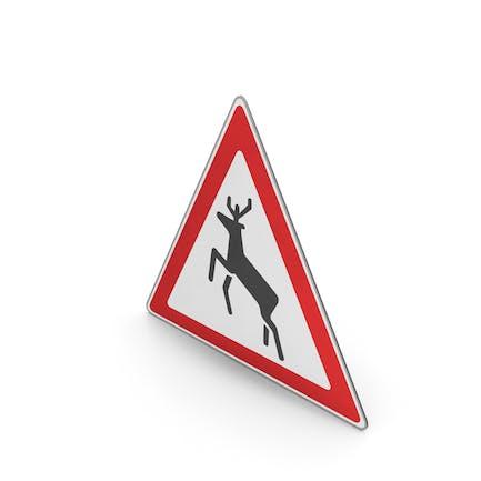 Reloj de señas de carretera para animales salvajes