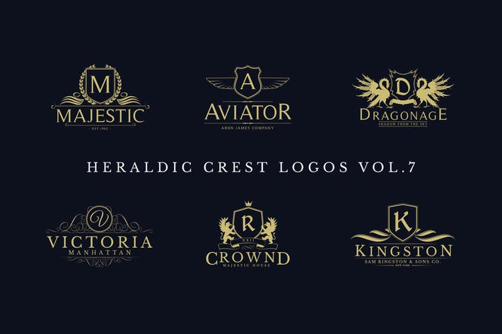 Thumbnail for Heraldic Crest Logos Vol.7