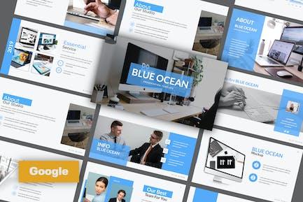 Голубой океан Google слайд