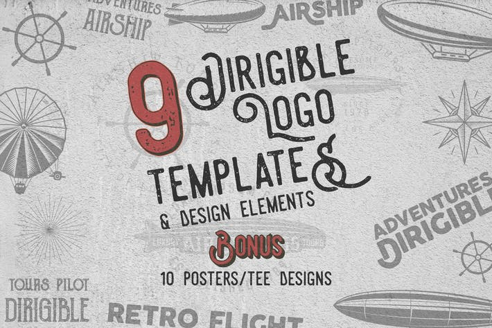 Thumbnail for Dirigible Vintage Logo / Badges & Design Elements