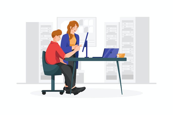 Software engineer vector illustration concept