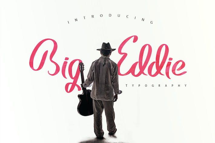 Thumbnail for Big Eddie Script Typeface