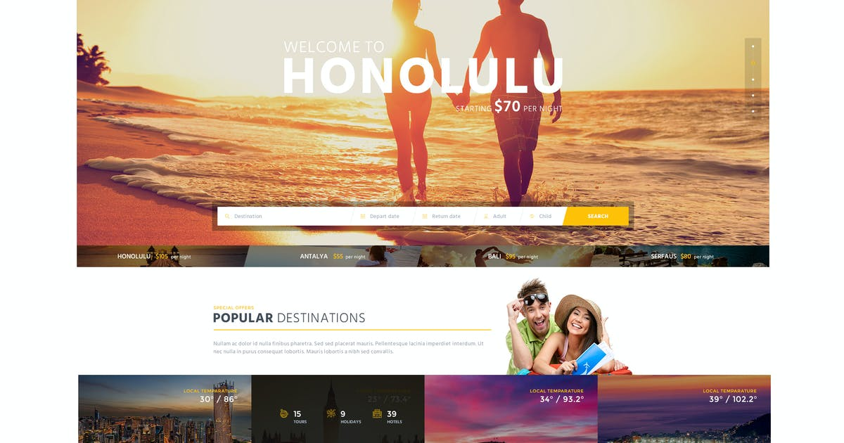 Download SunTour Creative Travel Agency HTML Template by CreativeWS