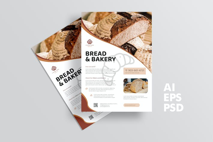 Thumbnail for Bread Store Flyer Design