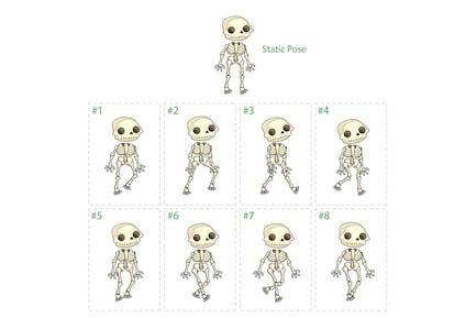 Animation des Skelett-Walking