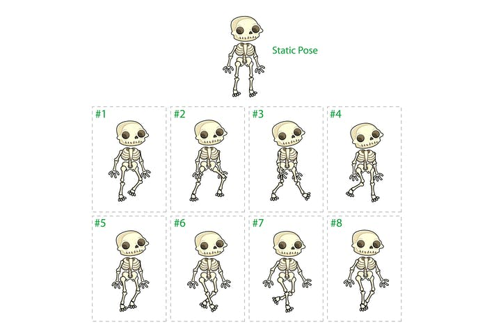Thumbnail for Animation of Skeleton Walking