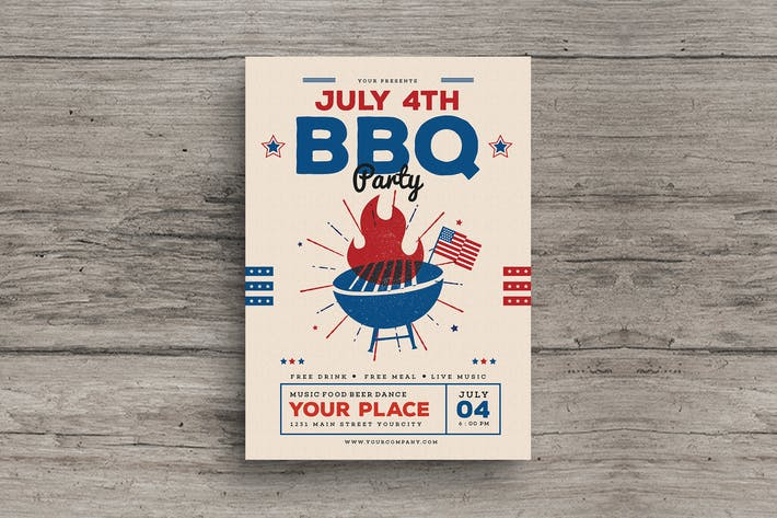 Thumbnail for 4th of July BBQ Flyer