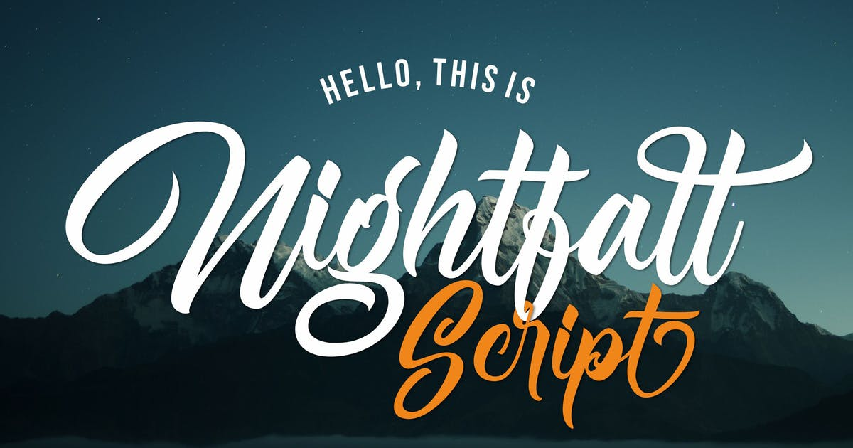 Download Nightfall - Bold Script by deemakdaksinas