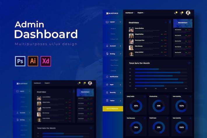 Thumbnail for Blueforce Dashboard | Admin Template
