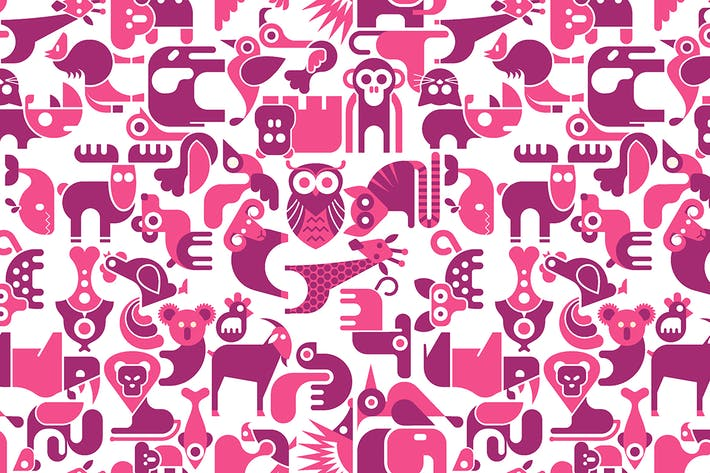 Thumbnail for Animal seamless vector background
