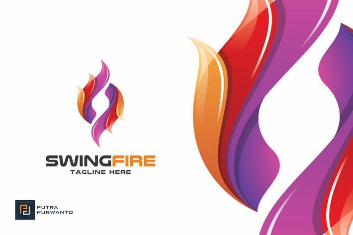 Cover Image For Swing Fire - Logo Template