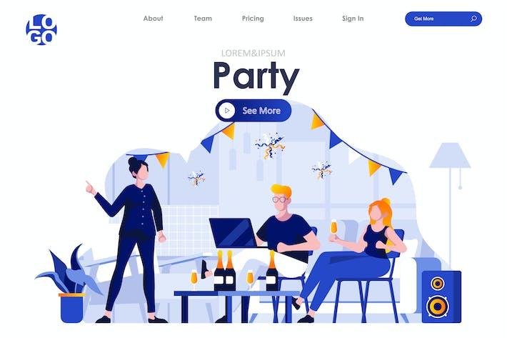 Thumbnail for Party Urlaub Landingpage Flat Concept